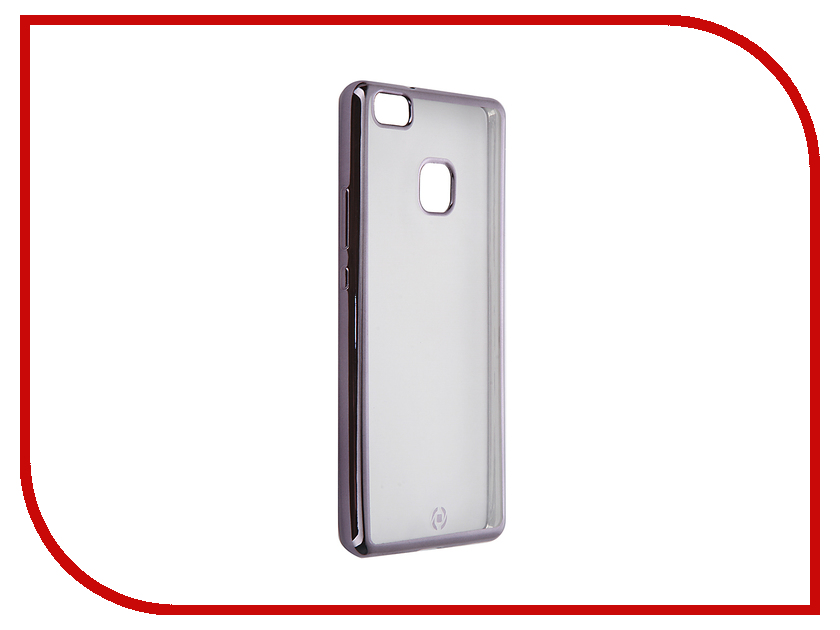 Аксессуар Чехол Huawei P9 Lite Celly Laser Transparent-Dark Grey BCLP9LITEDS<br>