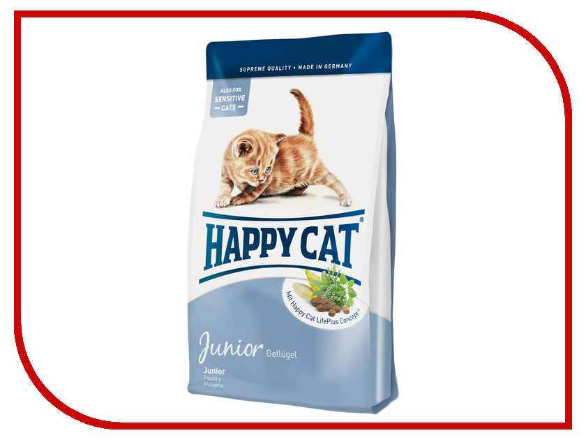 Корм Happy Cat Fit &amp; Well Junior 4kg 70029 для кошек<br>