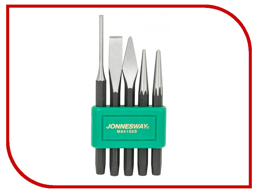 Набор кернов и зубил Jonnesway M64105S набор для регулировки фаз грм дизельных двигателей renault nissan dci jonnesway al010183