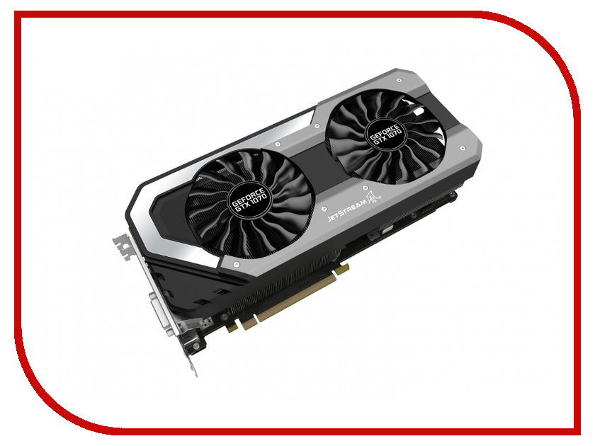 Видеокарта Palit GeForce GTX 1070 JetStream 1506Mhz PCI-E 3.0 8192Mb 4000Mhz 256 bit HDMI NE51070015P2-1041J<br>