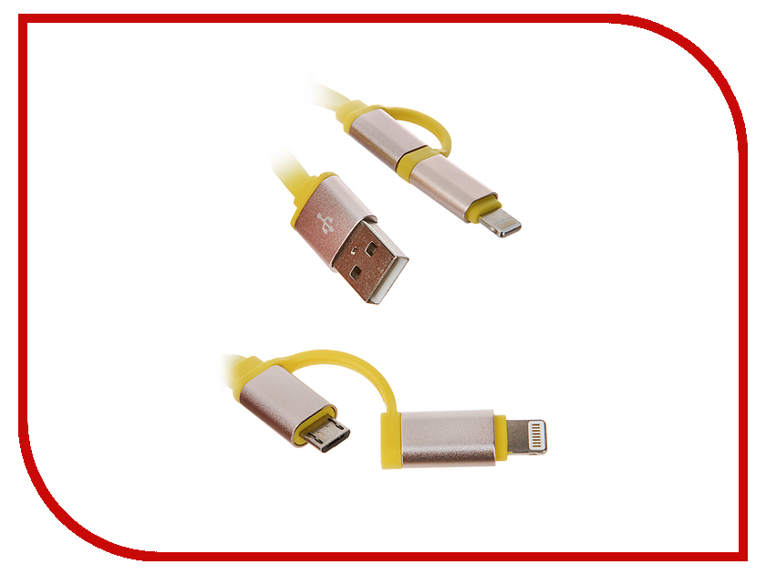 Аксессуар CBR Human Friends Marvel USB - Lightning / MicroUSB Yellow