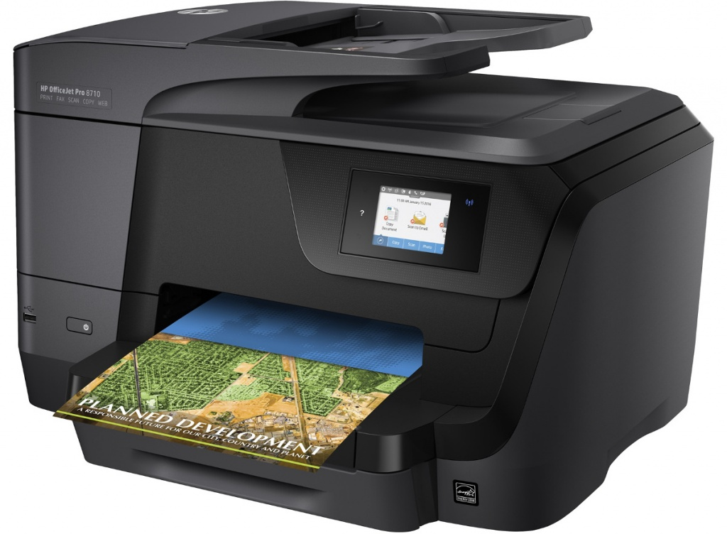 МФУ HP OfficeJet Pro 8710 мфу hp officejet pro 8710 d9l18a цветное а4 22ppm с дуплексом автоподатчиком и wi fi