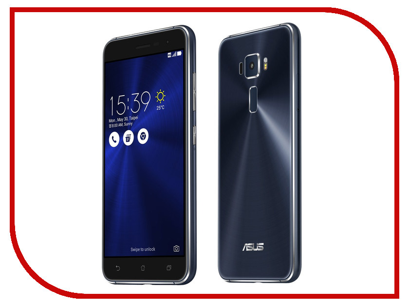 Сотовый телефон ASUS ZenFone 3 ZE520KL 32Gb Black ноутбук lenovo ideapad 110 15ibr 15 6 hd pen n3710 4gb 500gb dos