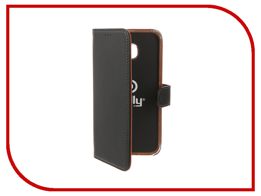 Аксессуар Чехол Samsung Galaxy S7 Edge Celly Wally Case Black WALLY591