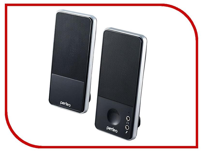 Колонка Perfeo PF-050-SV Black-Silver колонка perfeo multimedia speaker active pf 429 r red