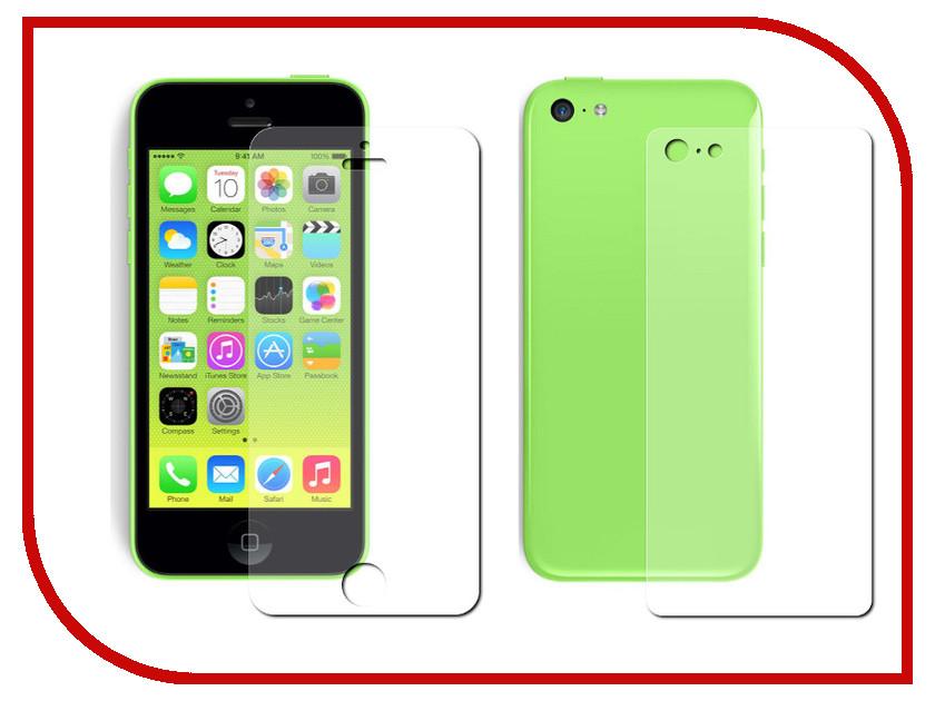 Аксессуар Защитная пленка Protect для iPhone 5C Front&Back глянцевая