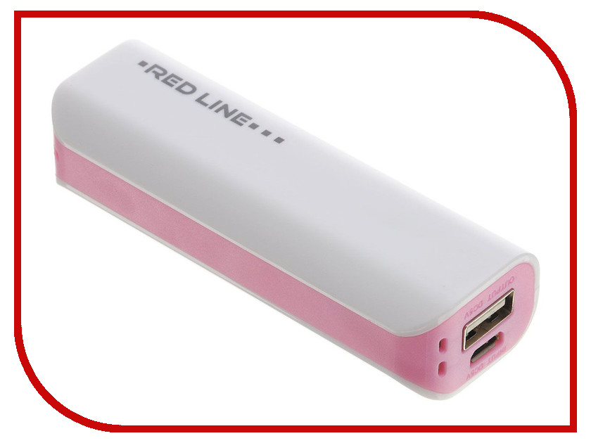 Аккумулятор Red Line R-3000 Power Bank 3000mAh Pink