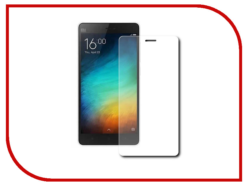��������� �������� ������ Xiaomi Mi4c / Mi4i (5) Red Line Tempered Glass