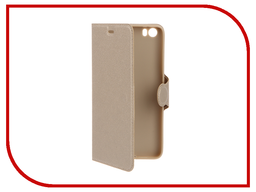 Аксессуар Чехол Xiaomi Mi5 Red Line Book Type Gold<br>