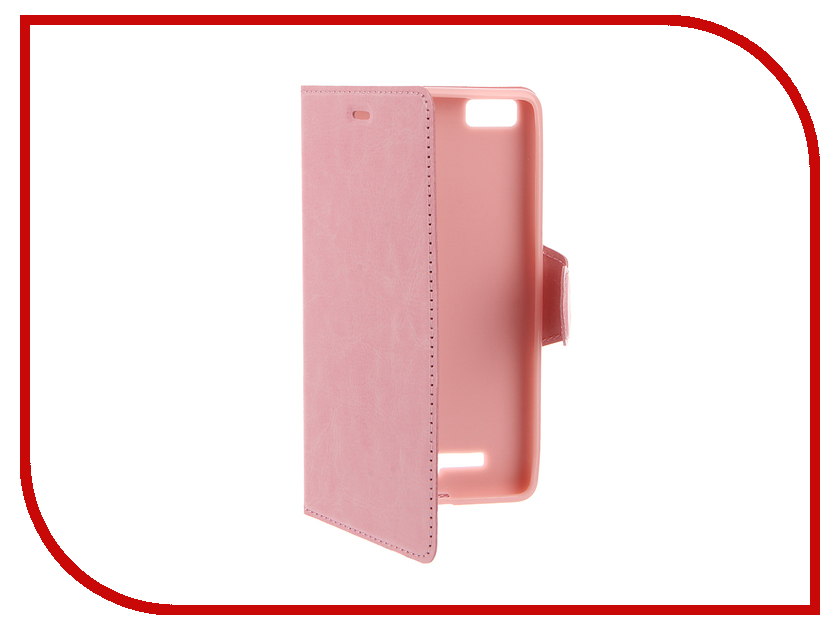 ��������� ����� Xiaomi Mi4c / Mi4i Red Line Book Type Pink
