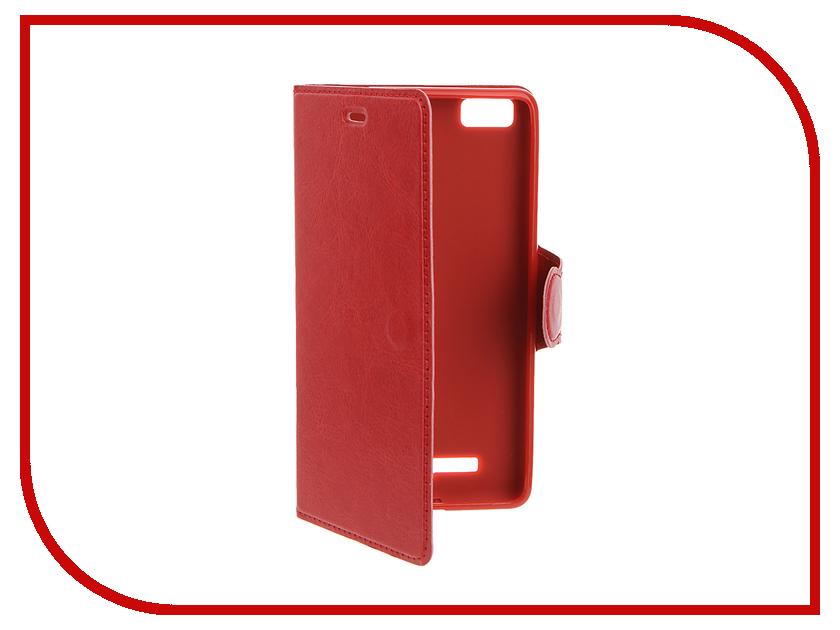 Аксессуар Чехол Xiaomi Mi4c / Mi4i Red Line Book Type Red<br>