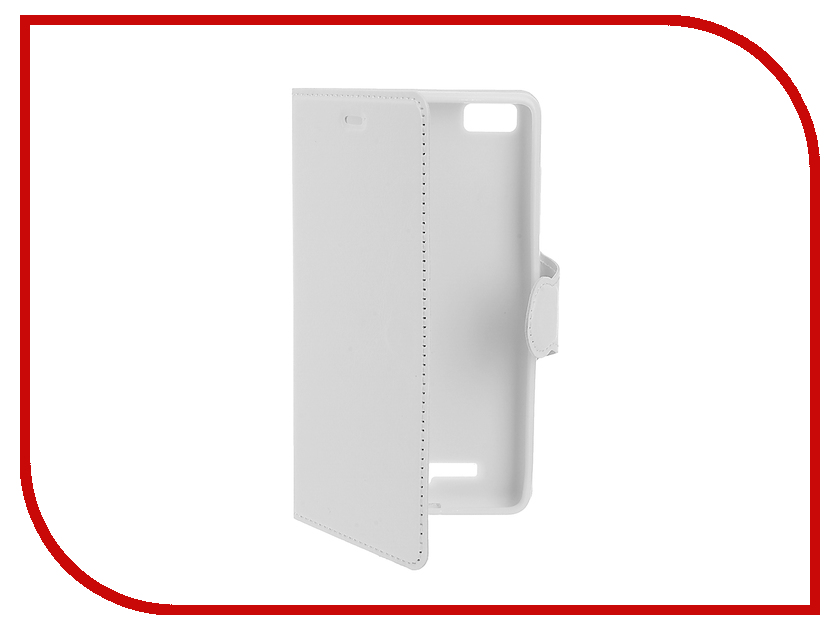 Аксессуар Чехол Xiaomi Mi4c / Mi4i Red Line Book Type White