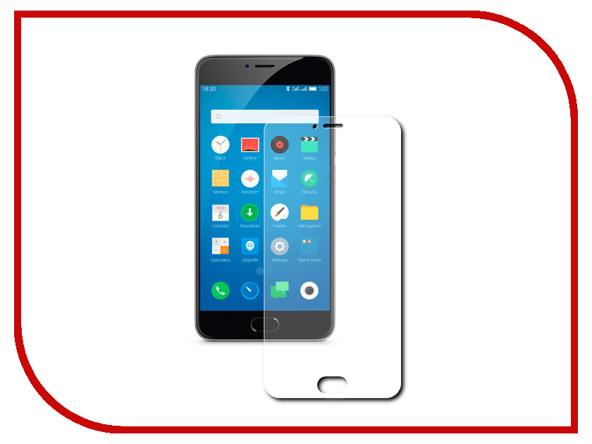 Аксессуар Защитная пленка Meizu M3 Note (5.5) Red Line meizu meizu m3 note 32gb silver