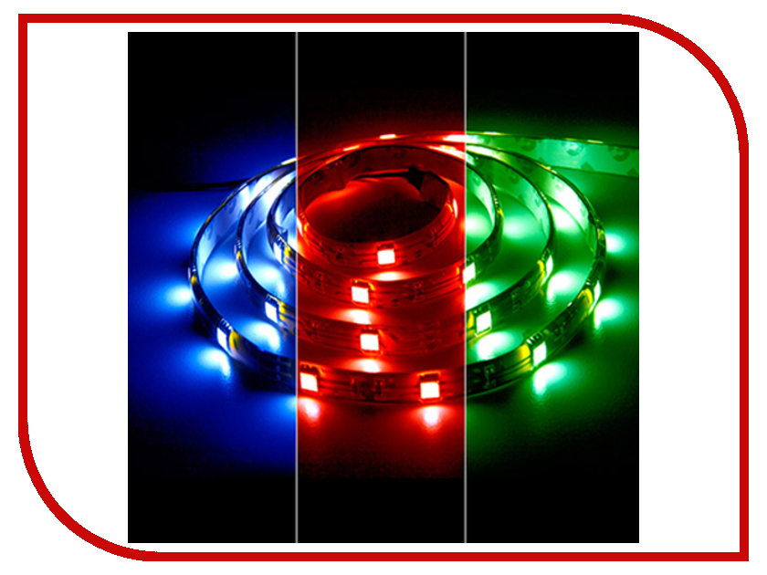 Светодиодная лента Feron 30SMD (5050) 12V 7.2W 5m RGB LS607 27709