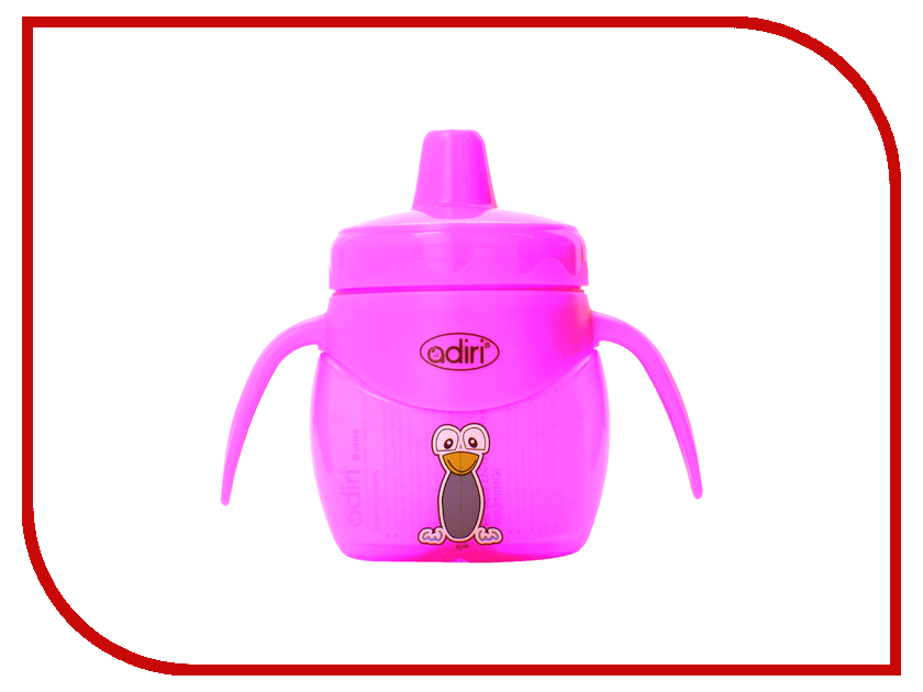 Бутылочка Adiri Penguin Jr. Trainer 200ml Pink AD009PK-2385C<br>