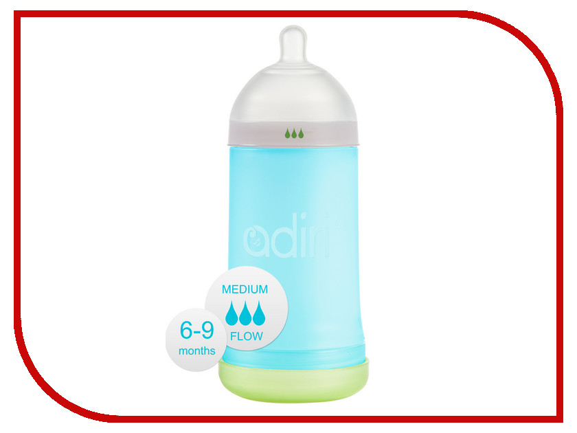 Бутылочка Adiri NxGen Medium Flow 281ml Blue AD002BL-3045C