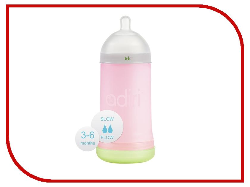 Бутылочка Adiri NxGen Slow Flow 3-6 месяцев 281ml Pink AD001PK-1965C