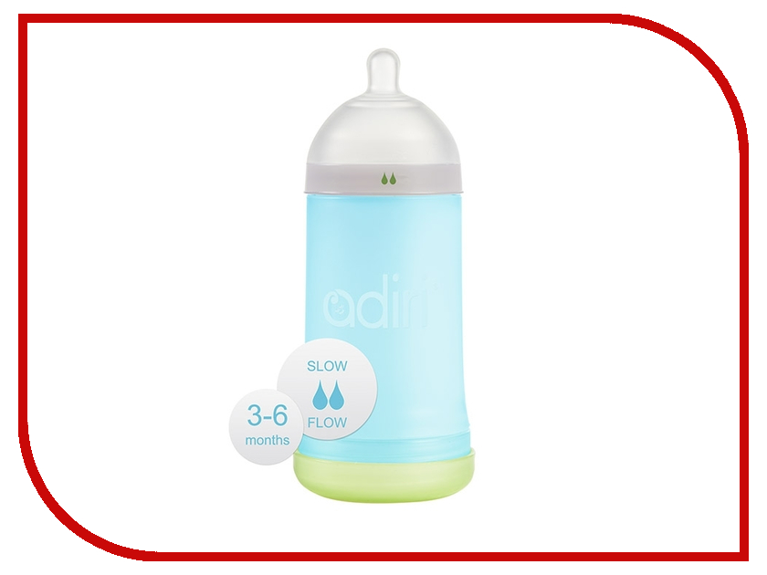 Бутылочка Adiri NxGen Slow Flow 281ml Blue AD001BL-3045C