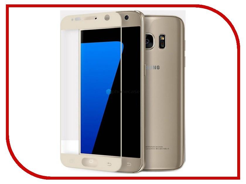 Аксессуар Защитноестекло Samsung Galaxy S7 Deppa 3D 0.3mm Gold 62001<br>