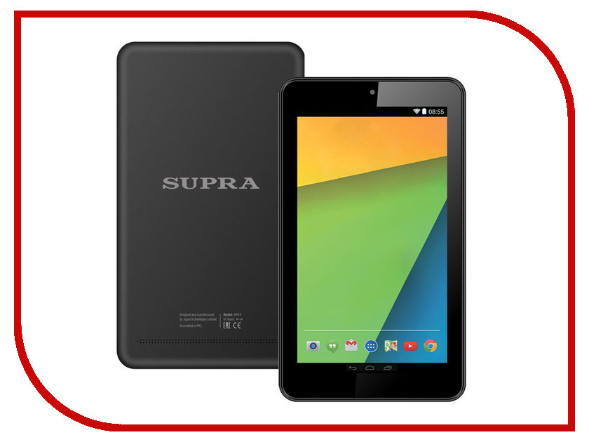 Supra Планшет SUPRA M743 (Rockchip RK3126 1.3 GHz/512Mb/8Gb/Wi-Fi/Cam/7.0/1024x600/Android)
