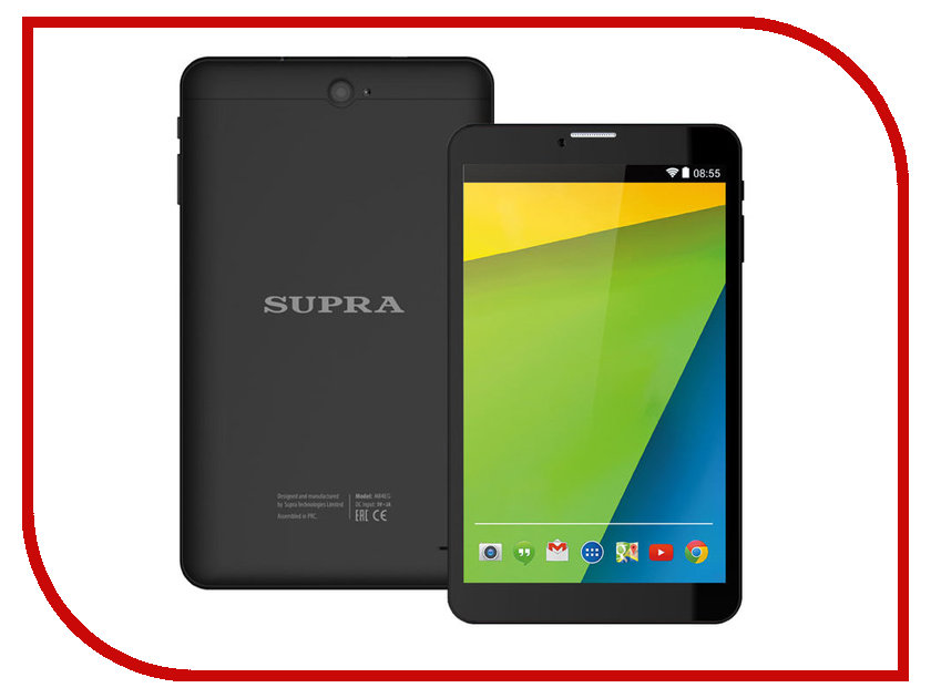 Планшет SUPRA M84EG 3G Spreadtrum SC7731 1.3 GHz/1024Mb/16Gb/Wi-Fi/Bluetooth/Cam/8.0/1280x800/Android