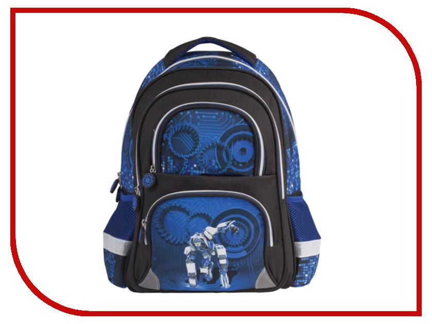 Рюкзак BRAUBERG Робот Black-Blue 225436