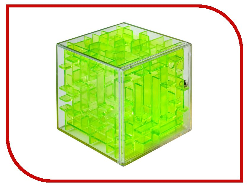 Головоломка Лабиринтус Куб 6cm Green Transparent LBC0004