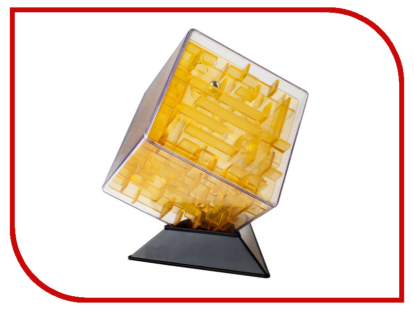 Игрушка Лабиринтус Куб 10cm Yellow Transparent LBC0002<br>