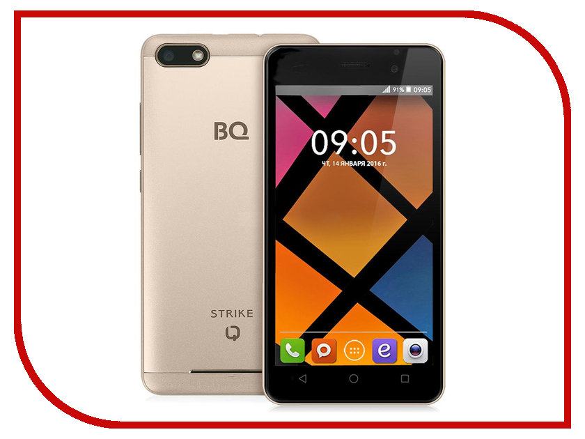 Сотовый телефон BQ BQS-5020 Strike Gold<br>