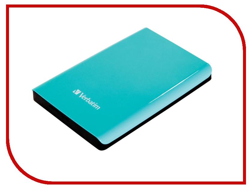 Жесткий диск Verbatim Store n Go 500Gb USB 3.0 Turquoise 53171