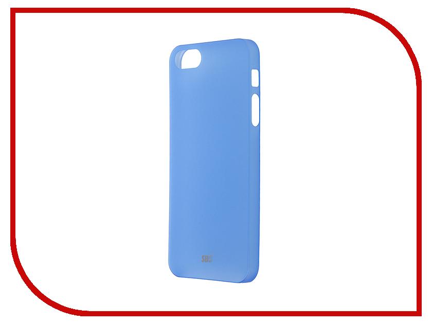 Аксессуар Чехол SBS Extra-Slim для iPhone 5 / 5S / SE Blue TE0PTS50B<br>