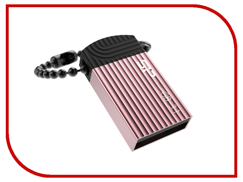 USB Flash Drive 8Gb - Silicon Power Jewel J20 Pink SP008GBUF3J20V1P<br>