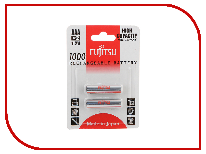 Аккумулятор AAA - Fujitsu HR-4UAEU (2B) 1000 mAh (2 штуки) 84434 fujitsu siemens v 5505