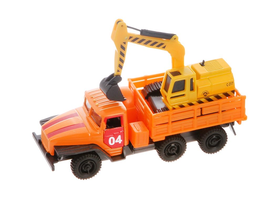Игрушка Технопарк Урал с машиной SB-15-35-T12+MC игрушка технопарк автобус ct10 025 sb