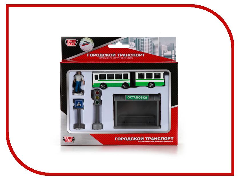 Машина Технопарк Автобус с остановкой и аксессуарами SB-16-18-B shantou туристический автобус