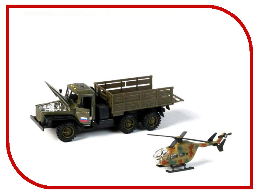 Игрушка Технопарк Урал с вертолетом SB-15-35-T04+MC<br>