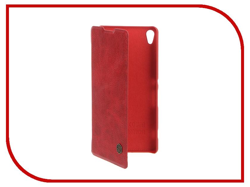 Аксессуар Чехол Sony Xperia XA Nillkin Qin Red<br>