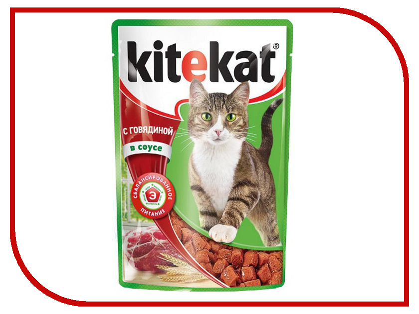 Корм Kitekat Говядина 85g для кошек 10151296