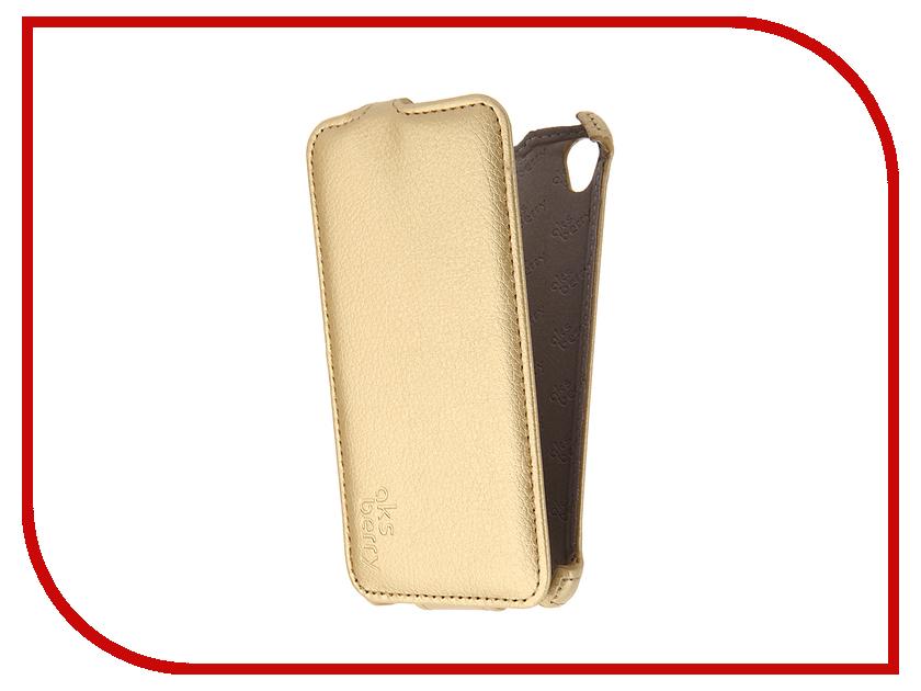 Аксессуар Чехол Sony Xperia E5 Aksberry Gold