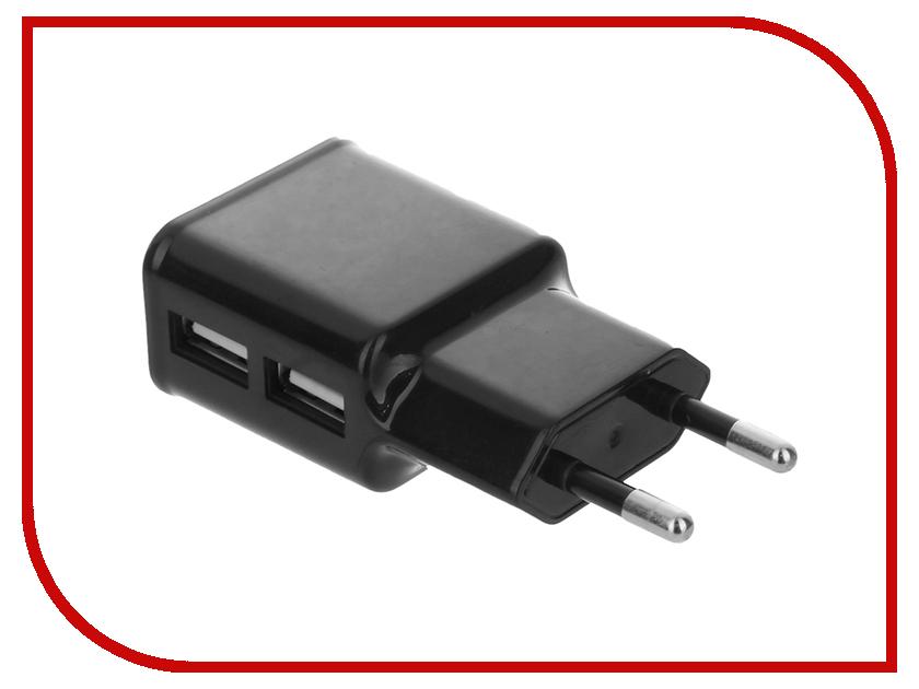 Зарядное устройство Red Line USB 5V2A Dual Black<br>