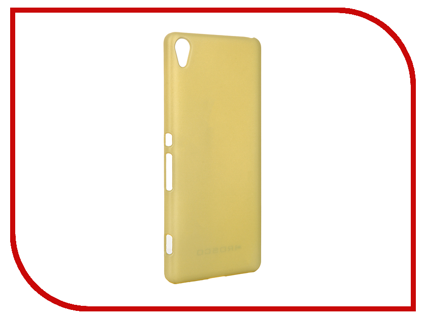 Аксессуар Чехол Sony Xperia XA BROSCO Lime XA-SOFTTOUCH-GOLDLIME<br>
