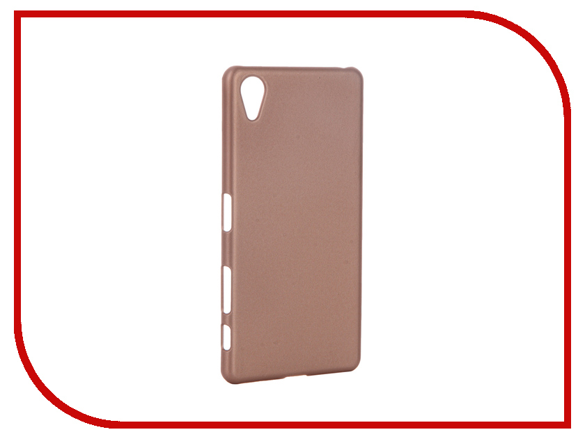 Аксессуар Чехол Sony Xperia X Performance BROSCO Pink Gold XP-SOFTTOUCH-ROSEGOLD
