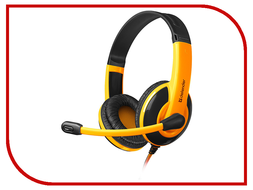 Гарнитура Defender Warhead G-120 Black-Orange<br>