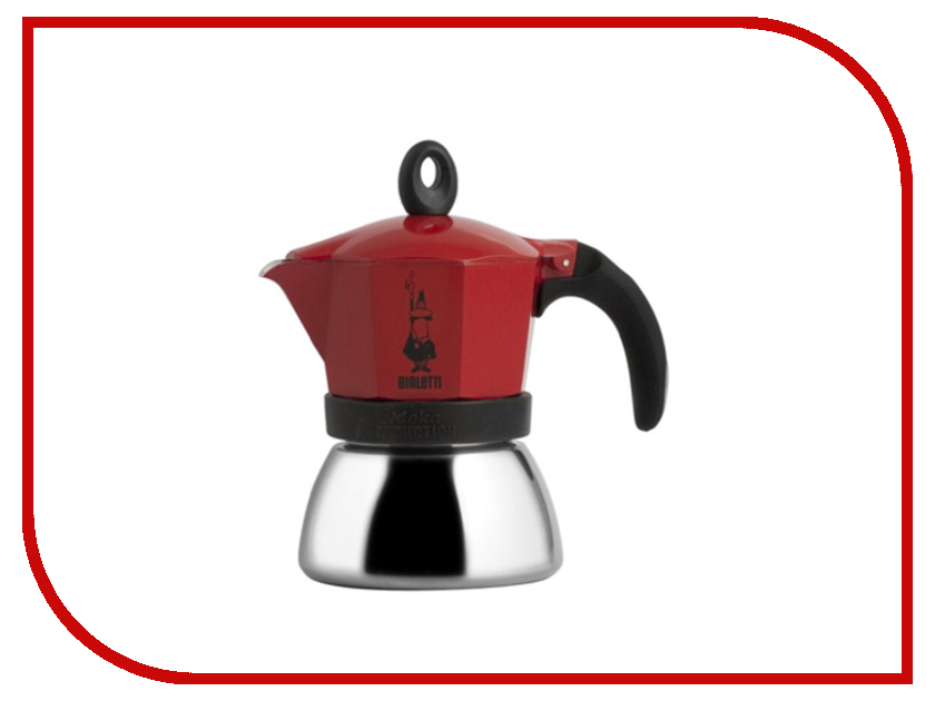 Bialetti Moka Induction на 3 чашки Red<br>