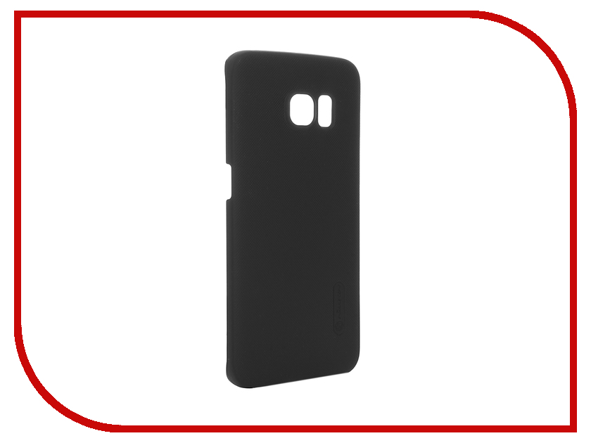 Аксессуар Чехол Samsung Galaxy S6 Edge G925F Nillkin Frosted Shield Black<br>