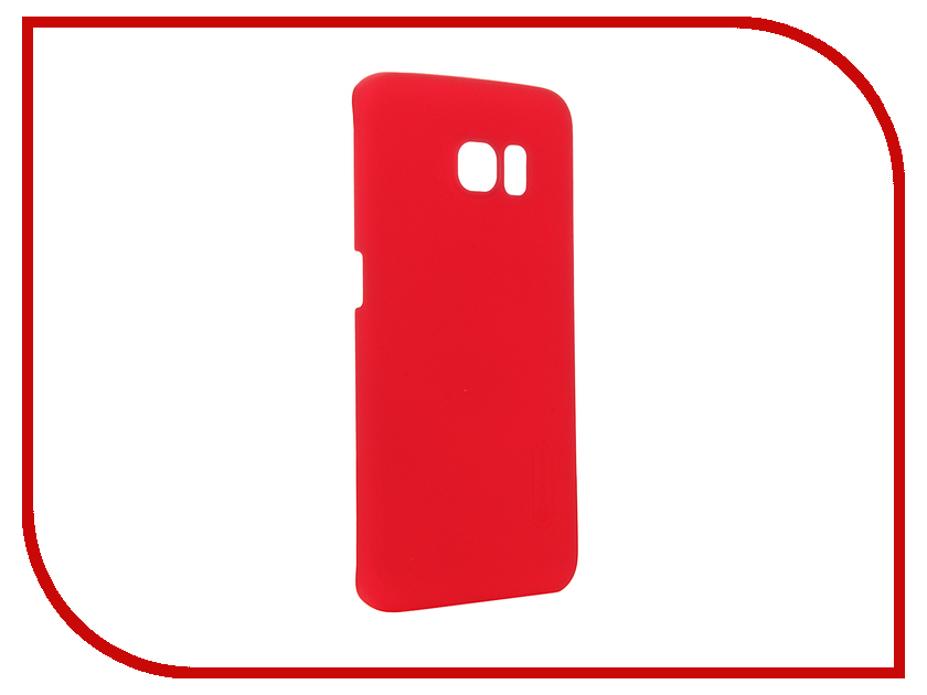 Аксессуар Чехол Samsung Galaxy S6 Edge G925F Nillkin Frosted Shield Red<br>