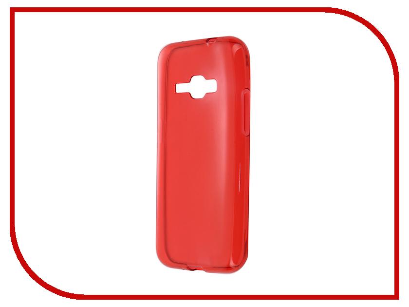 Аксессуар Чехол-накладка Gecko for Samsung Galaxy J1 J120F 2016 силиконовый Transparent Red S-G-SGJ1-2016-RED стоимость