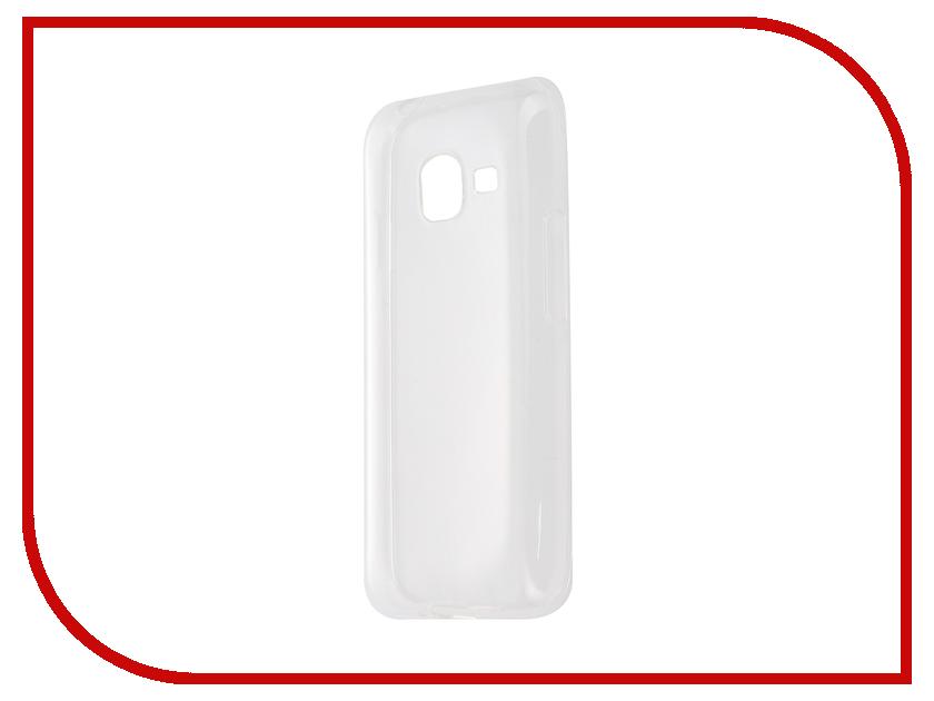 Аксессуар Чехол-накладка Gecko for Samsung Galaxy J1 mini J105H 2016 силиконовый Transparent White S-G-SGJ1mini-2016-WH чехол для samsung galaxy j1 mini 2016 sm j105h gecko силиконовая накладка прозрачно глянцевая белая