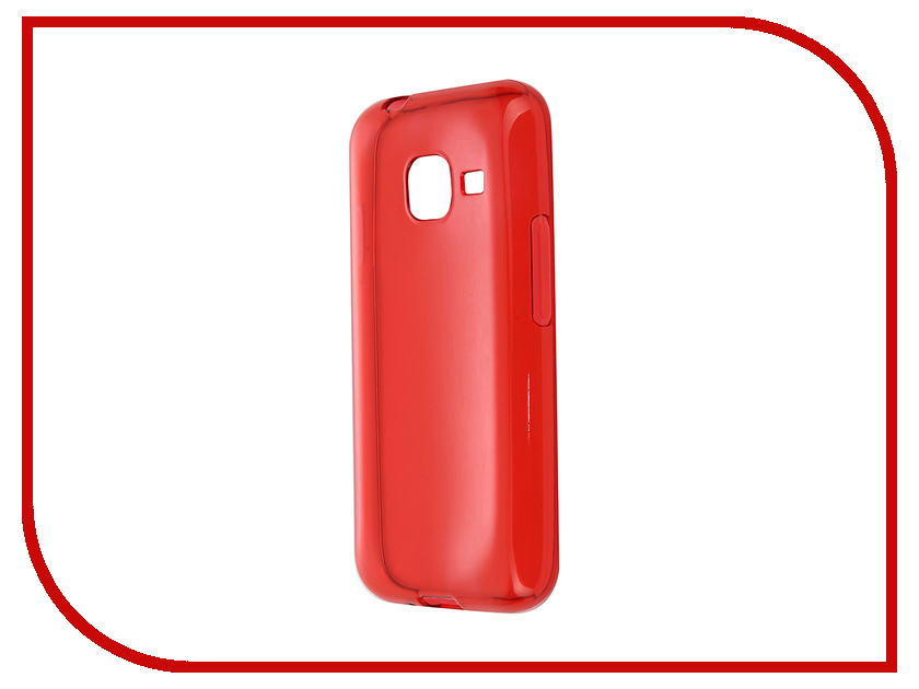 для Samsung S-G-SGJ1mini-2016-RED  Аксессуар Чехол-накладка Gecko for Samsung Galaxy J1 mini J105H 2016 силиконовый Transparent Red S-G-SGJ1mini-2016-RED