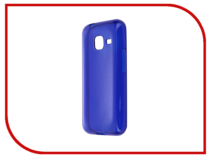 Аксессуар Чехол-накладка Gecko for Samsung Galaxy J1 mini J105H 2016 силиконовый Transparent Blue S-G-SGJ1mini-2016-DBLU<br>